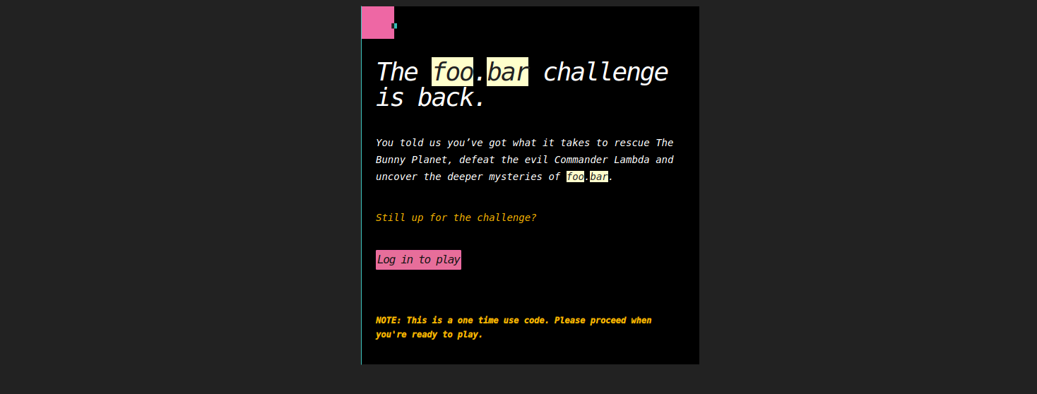 FooBar Invitation