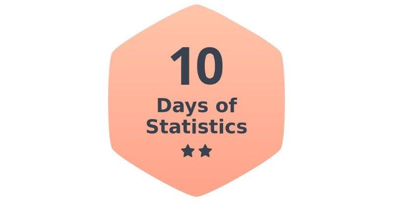 10 Days of Statistics